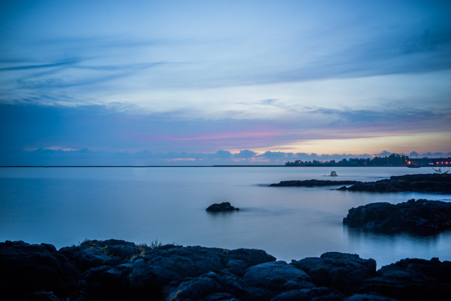 Sunrise in Hilo from Grand Naniloa Hotel by Double tree offers a beautiful view.