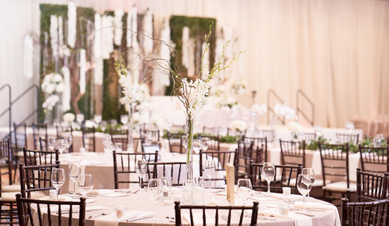 Marriott Fremont table set up for a  Muslim Wedding reception