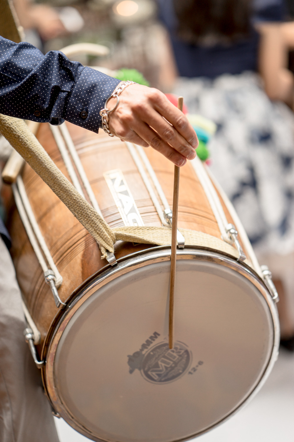 Dholl drummers just like you would have seen in any Punjabi - Hindu weddings.