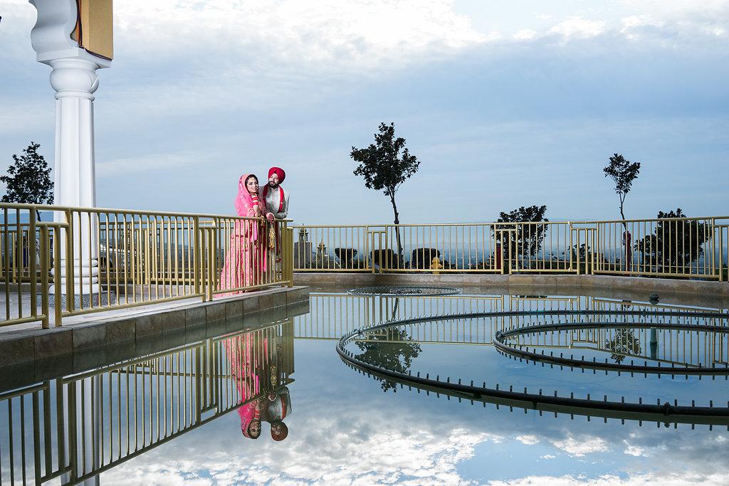 Bridal Portraits |Captured outside the gurudwara just after the sunset