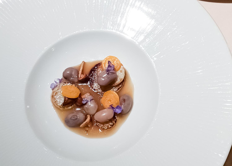 Kohlrabi-and-chantrelles-in-choucroute-jus-manresa-food-tasting-menu