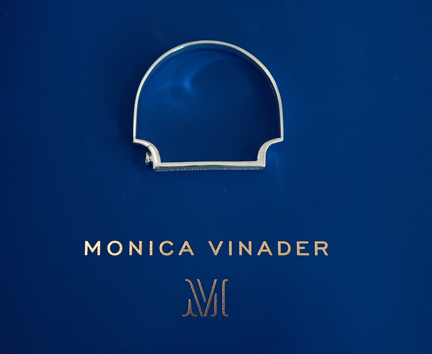 The signature thin bangle designed by Monica Vinader.