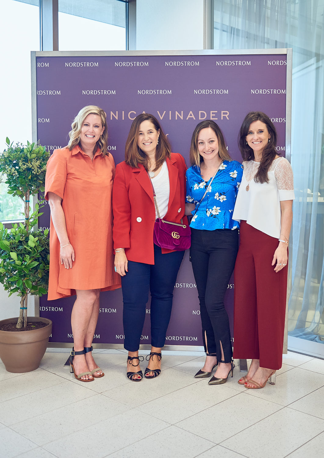 Nordstroms creative director with Monica and her team from left to right.