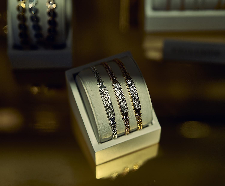 Diamond studded bracelets by Monica Vinader.