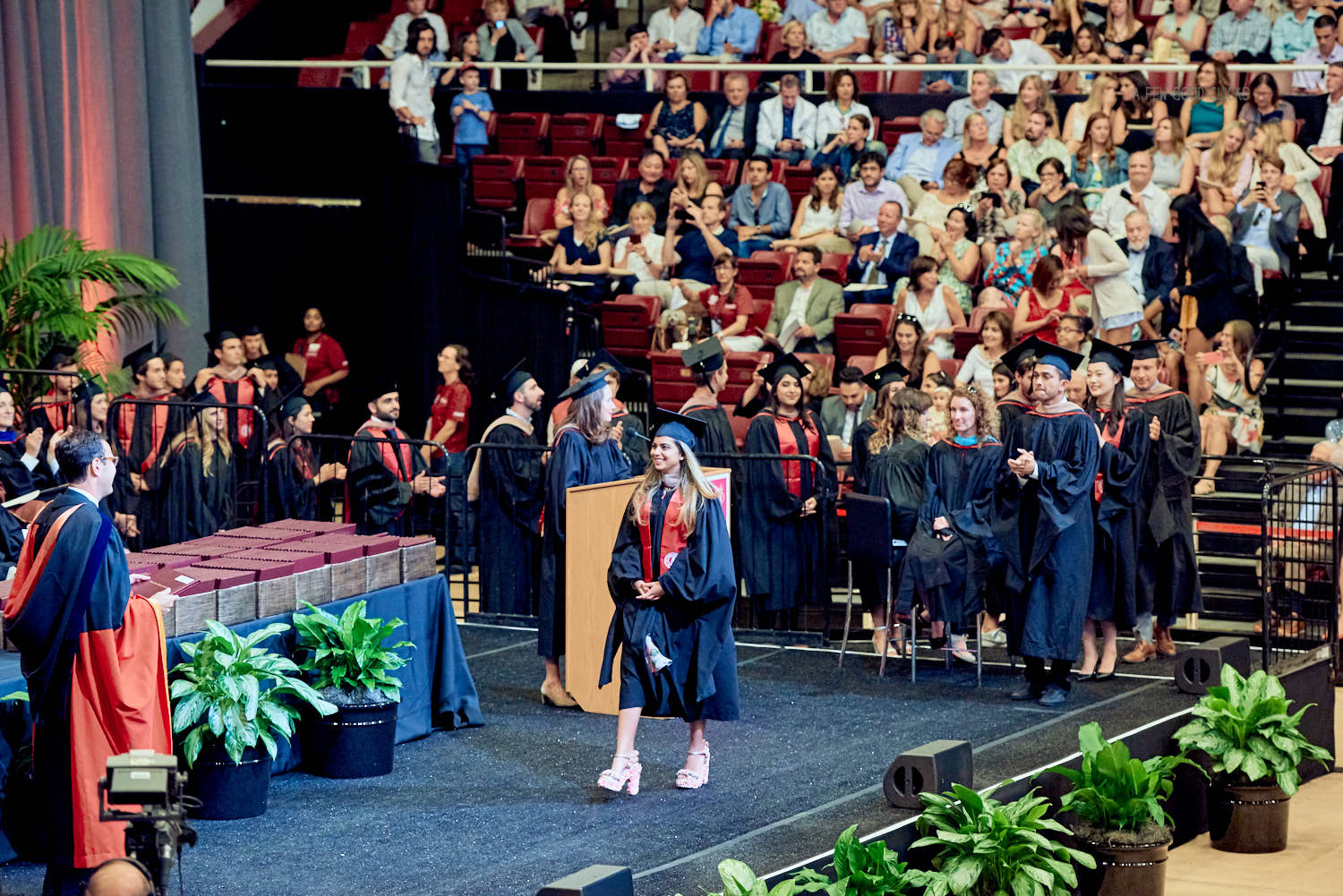The actual moment of getting awarded MBA degree at Stanford.