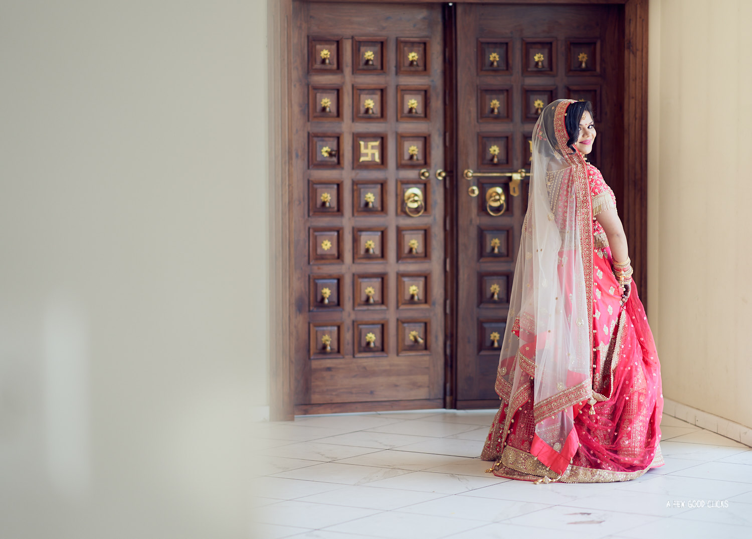 Bride wearing a dark pink lehanga | Indian Wedding photography in Bay Area Temple.
