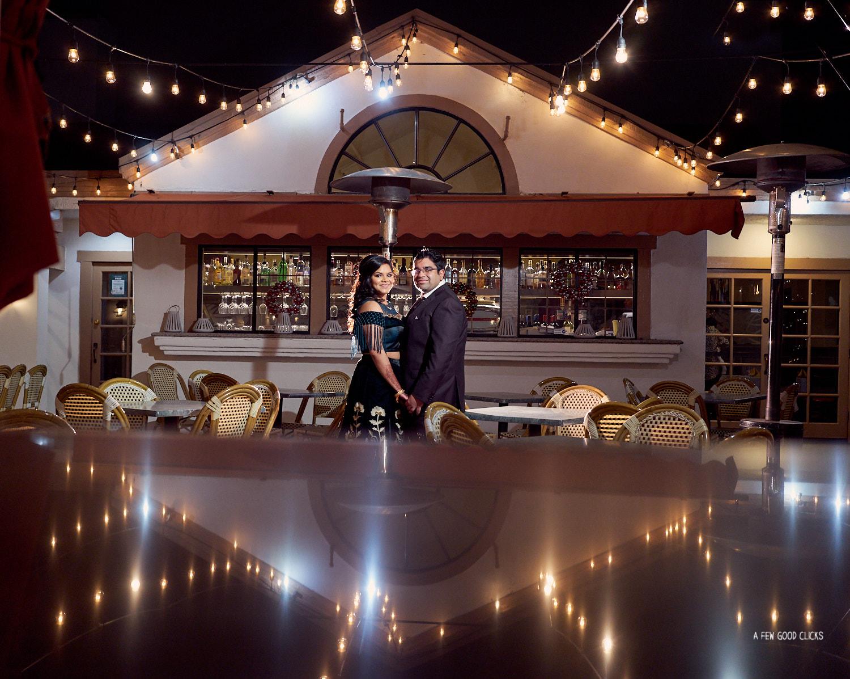 Bride & Groom Portraits at Amber India restaurant, Los Altos.