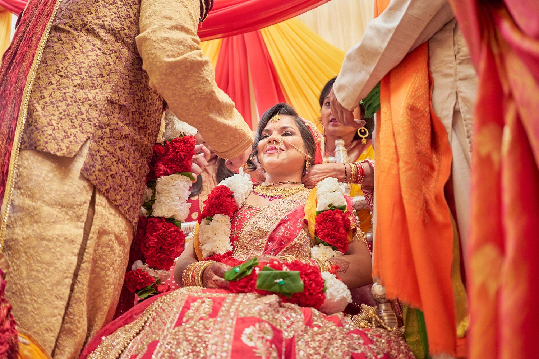 Mangalsutra ceremony.