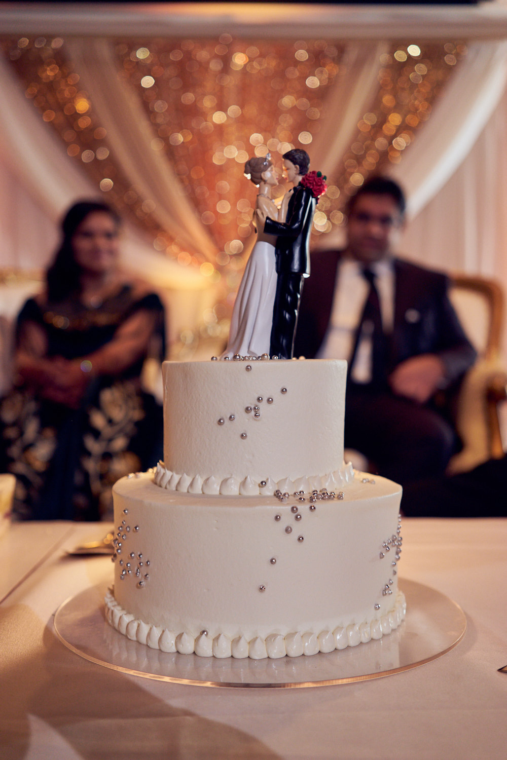 The Wedding Cake Photography at Amber India Restaurant, CA.