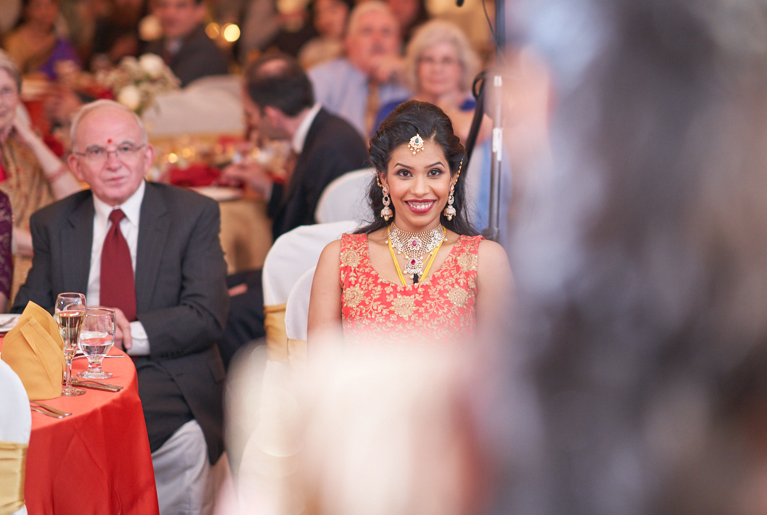 Look at the bride's expressions…priceless!