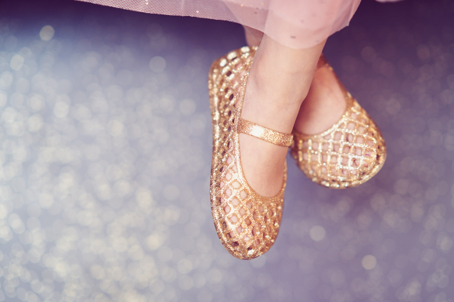 Sparkly shoes for your little princess's birthday.