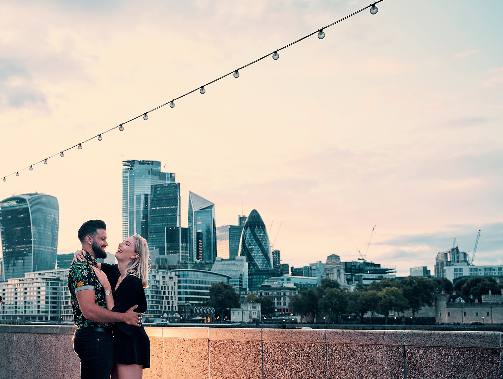 Picture against the London skyline | Shot from south of the river thames just outside Mayor's office.