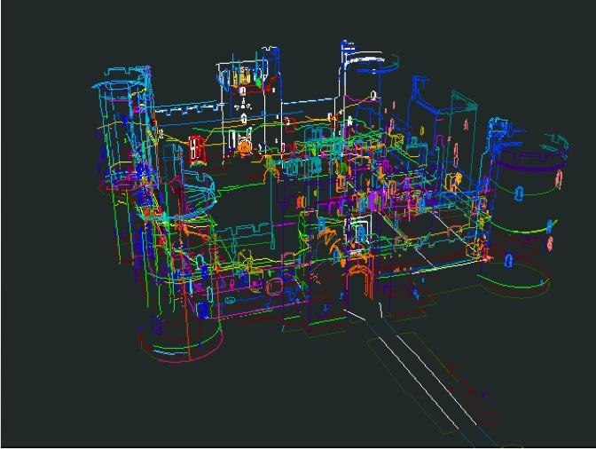 Catriona Cooper's visual model of Bodiam Castle