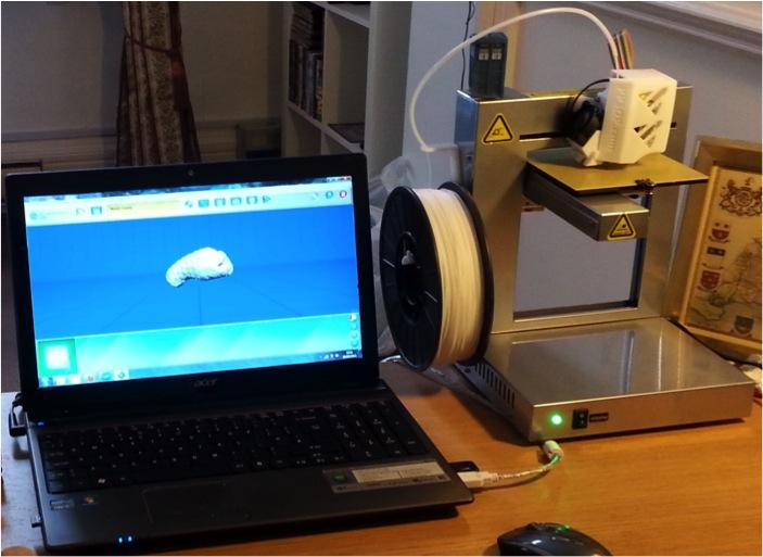 Peter Brugger's home 3D printing set up.