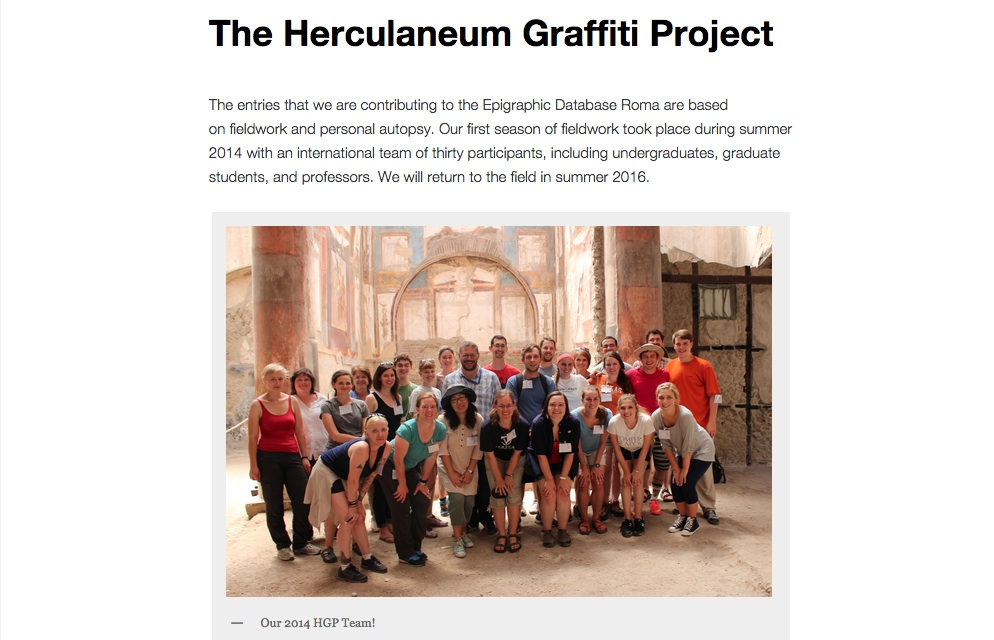 Herculaneum Team 2014! fromhttp://ancientgraffiti.wlu.edu/hgp/