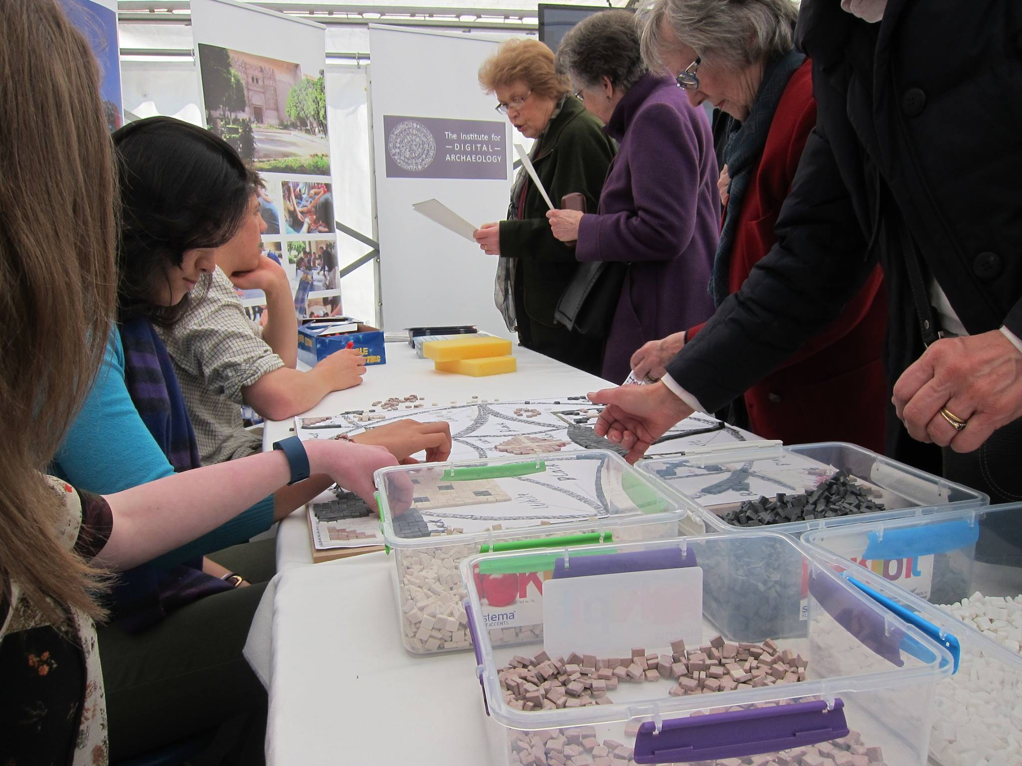 Visitors to the Educational Marquee