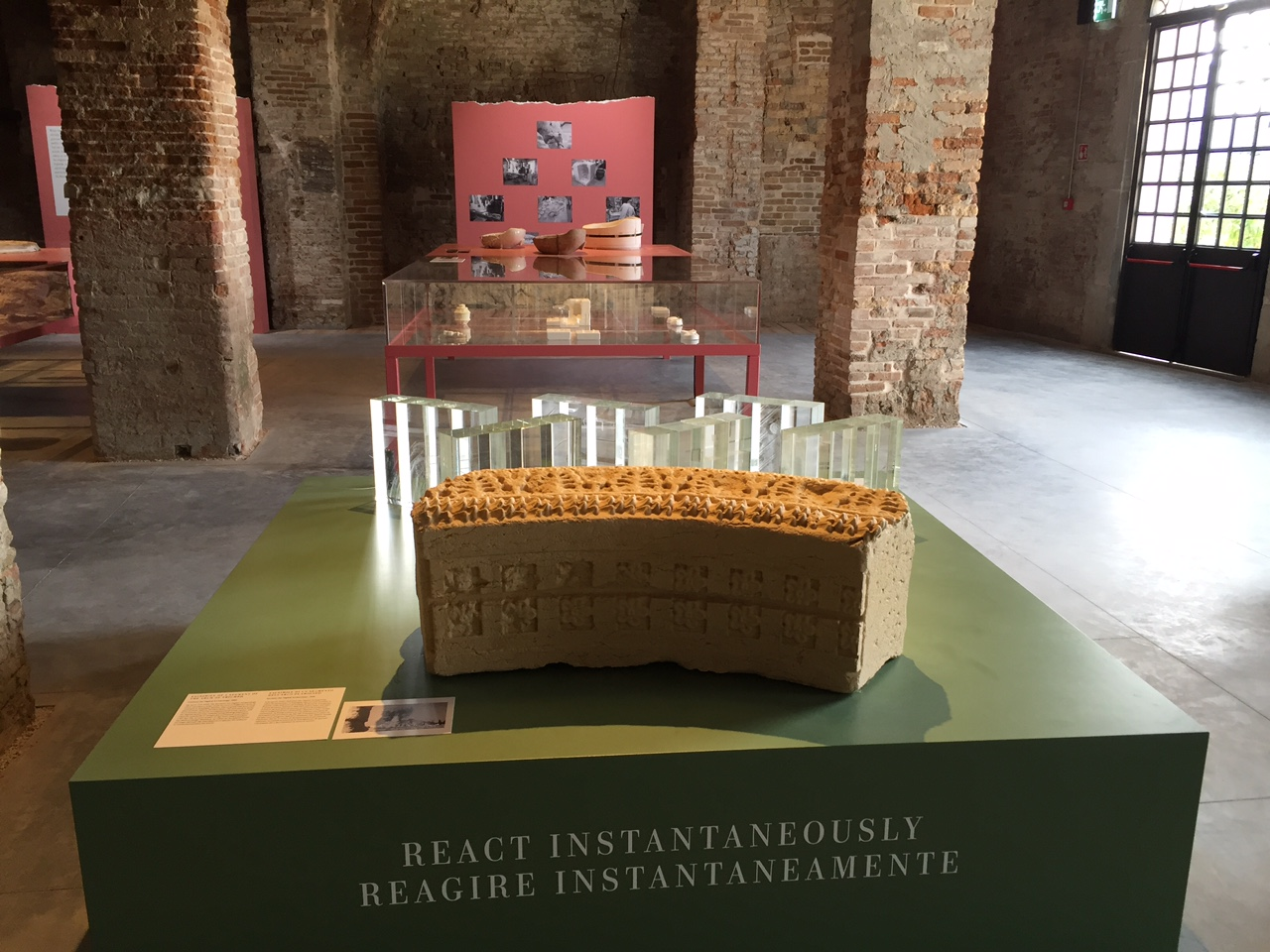 A piece of the Triumphal Arch of Palmyra at the Venice Biennale