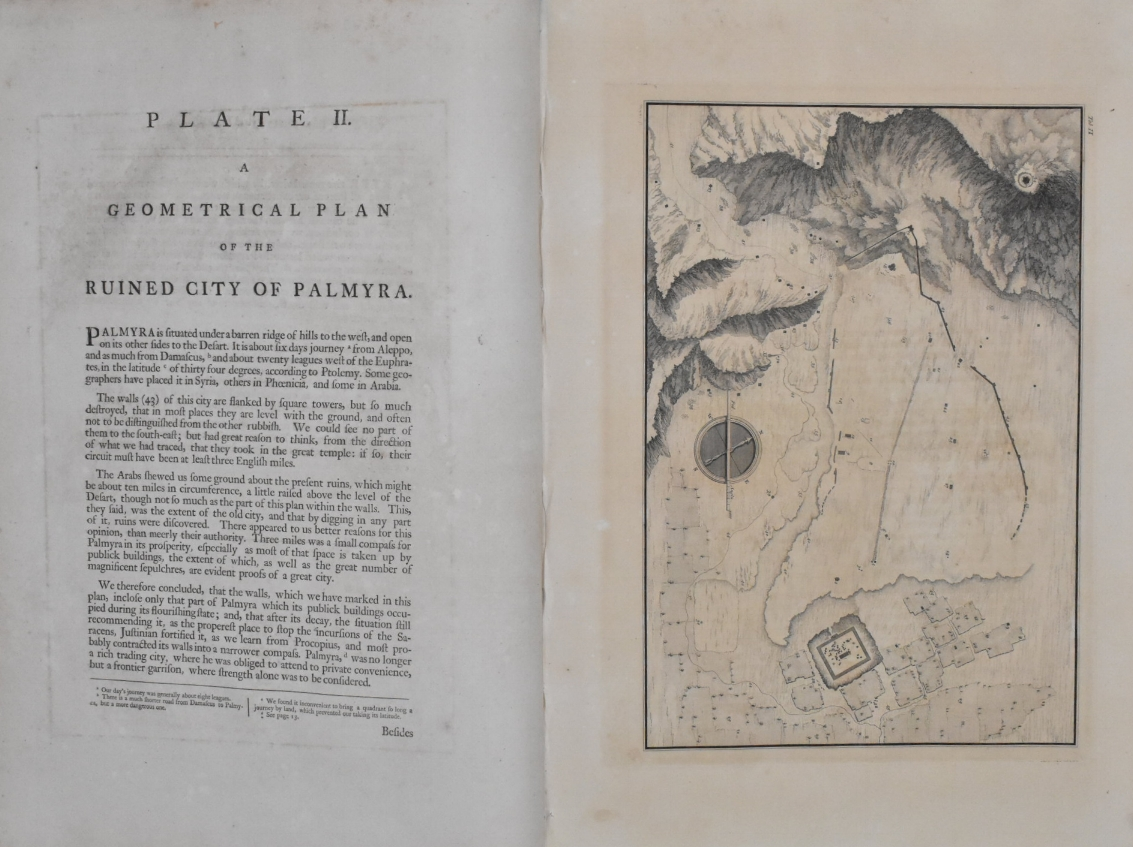 plate ii from robert wood and james dawkins' 'ruins of palmyra'