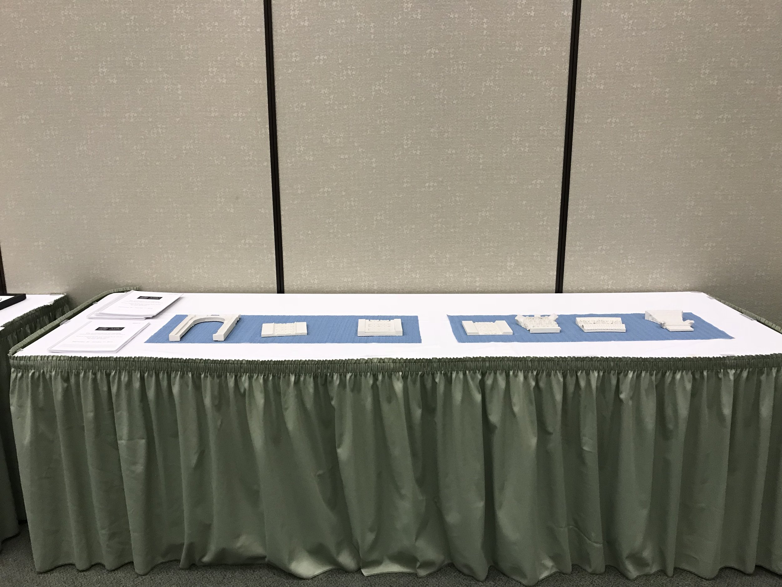 IDA's tactile arch exhibition at the NFB Tactile graphics symposium 2018