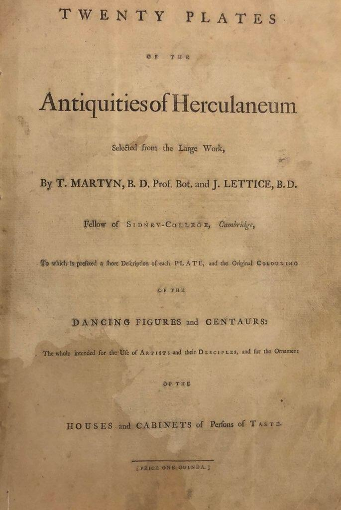 Title page, martyn & lettice antiquities of herculaneum