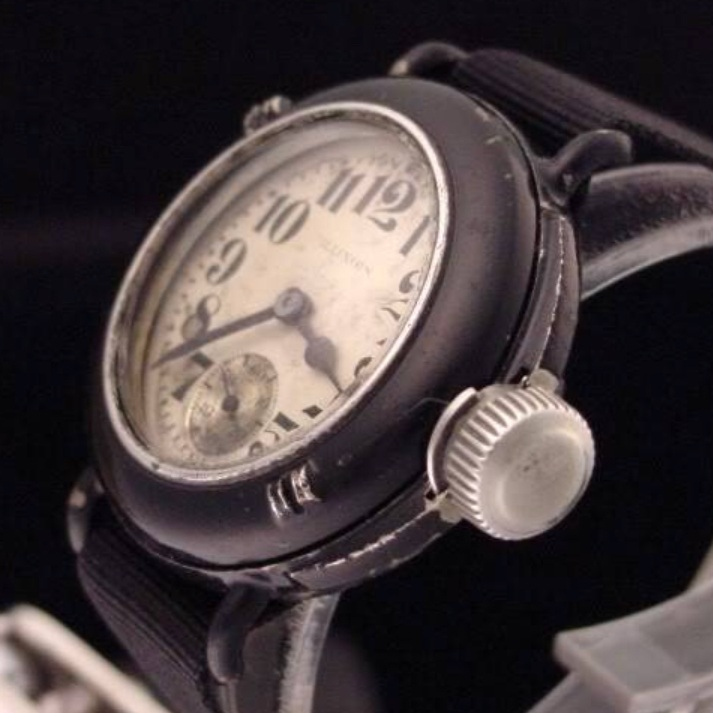 Depollier waterproof watch designed for the US Navy in 1917 - Depollier was one of the earliest pioneers in the field of water-resistant watches and the first to provide bespoke water-resistant watches to the US military. While these watches were by no means waterproof, they represented a significant improvement in water resistance over earlier models and – with their oversize canteen crowns – paved the way for the true water-tight watches of the 1930s.