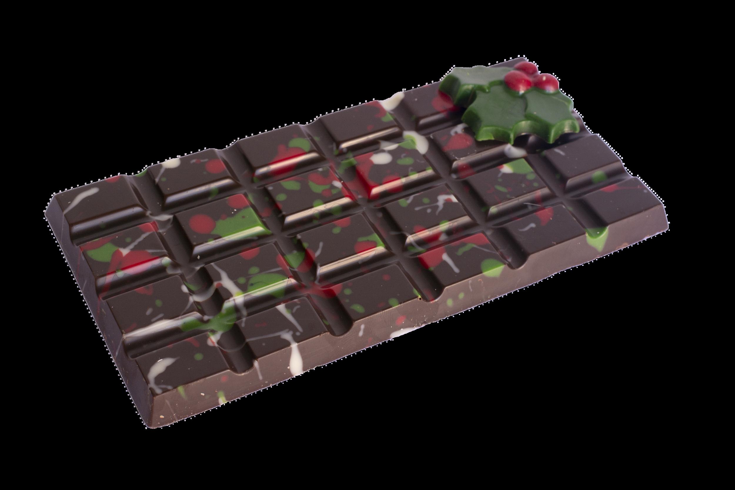 Christmas themed 100 gram chocolate bar