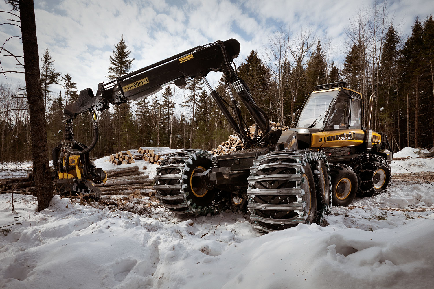 This behemoth and futuristic logging machine makes quick work of the forest, and can drive over the most unruly terrain.