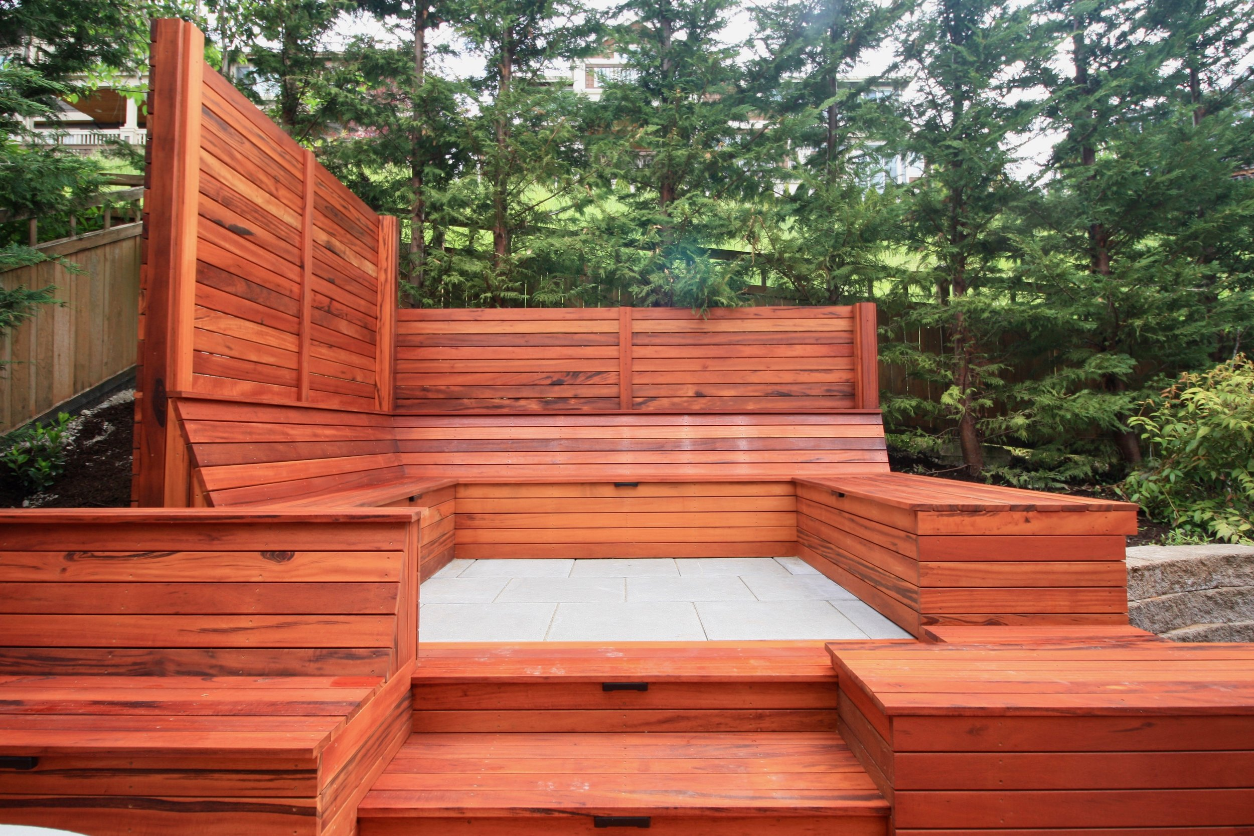Tigerwood Custom Benches