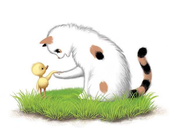 Duck & Cat Friendship