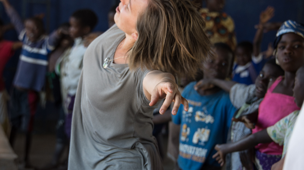 teaching dance at the hope centers