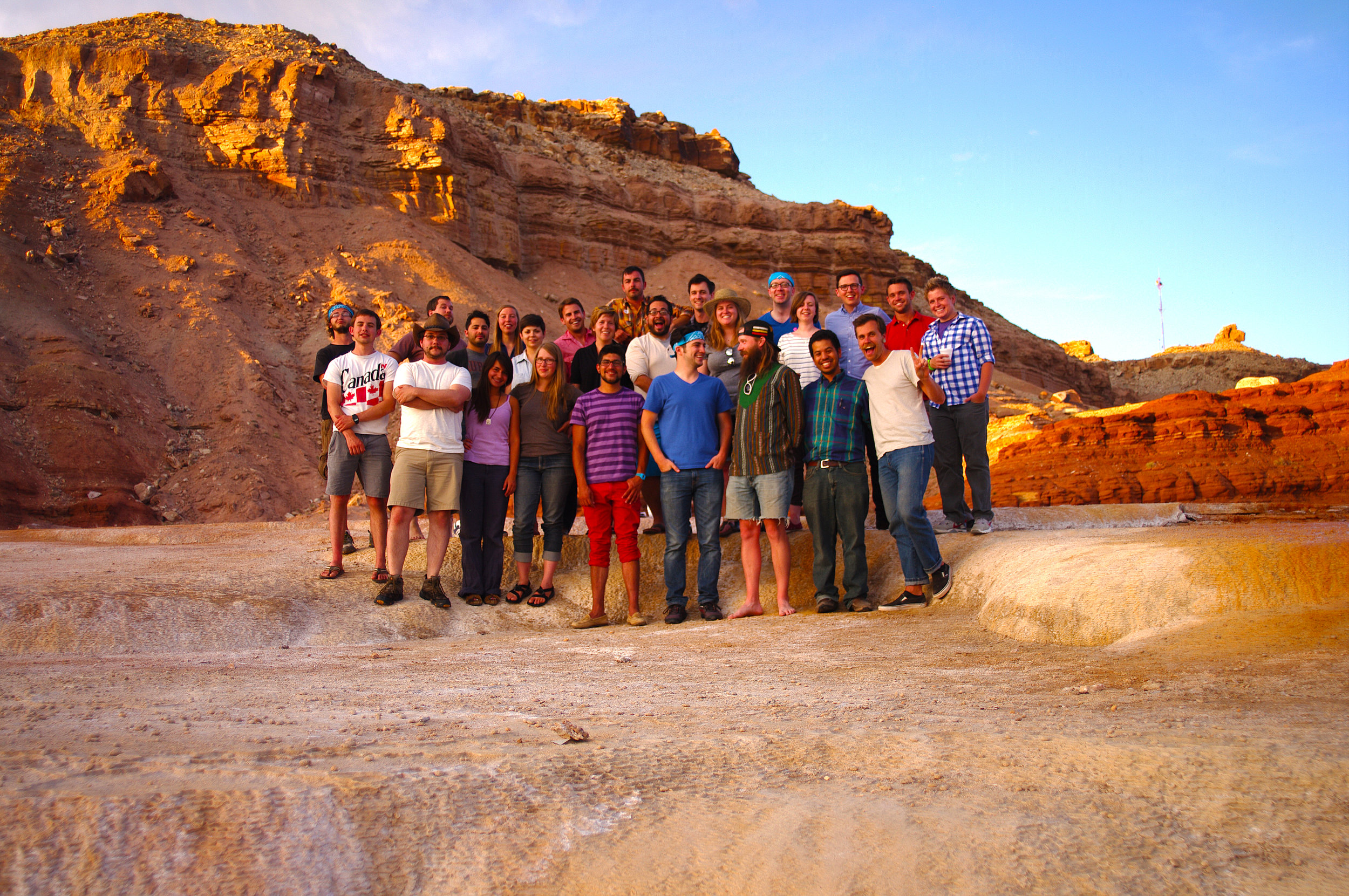 Photo of Epicenter's Summer Summit event in 2013 featuring many returning Frontier Fellows