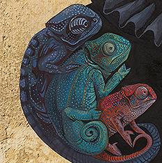 Miss Chameleon (detail)