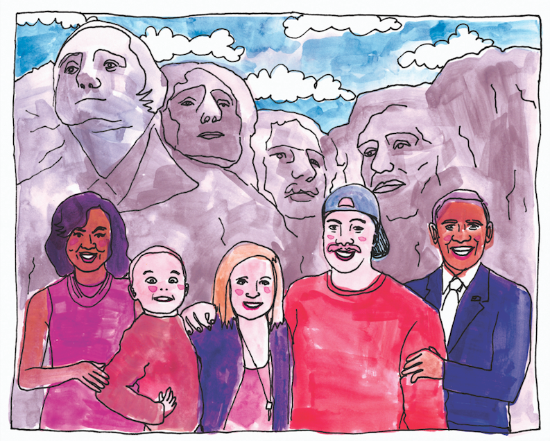 COOPERS VISIT RUSHMORE WITH OBAMAS!