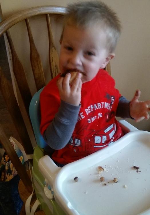 My nephew Felix, learning to be thankful.