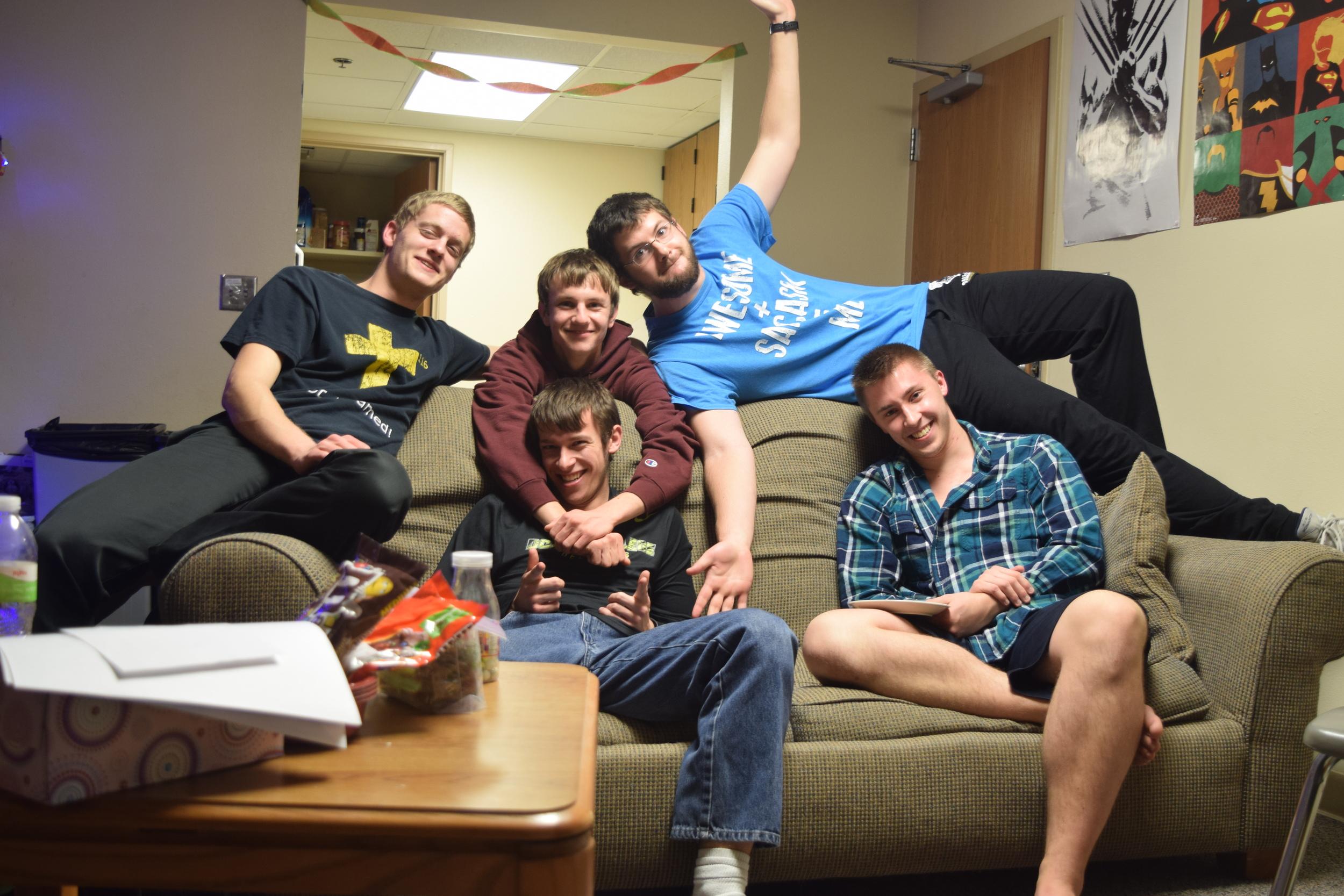 A Bunch of Weirdos AKA my roommates. Top: Nathan, Ben, Josh. Bottom: Andrew, Mark.