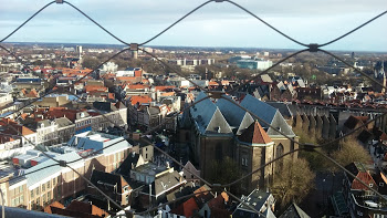 Zwolle from the top of the Peperbus!