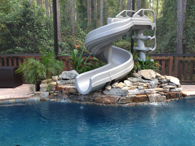 Water pool residential slides swimming Custom Pool