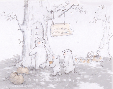 """The prompt word this month is """"growth."""" So, here are some bears who grew, one more than the others."""