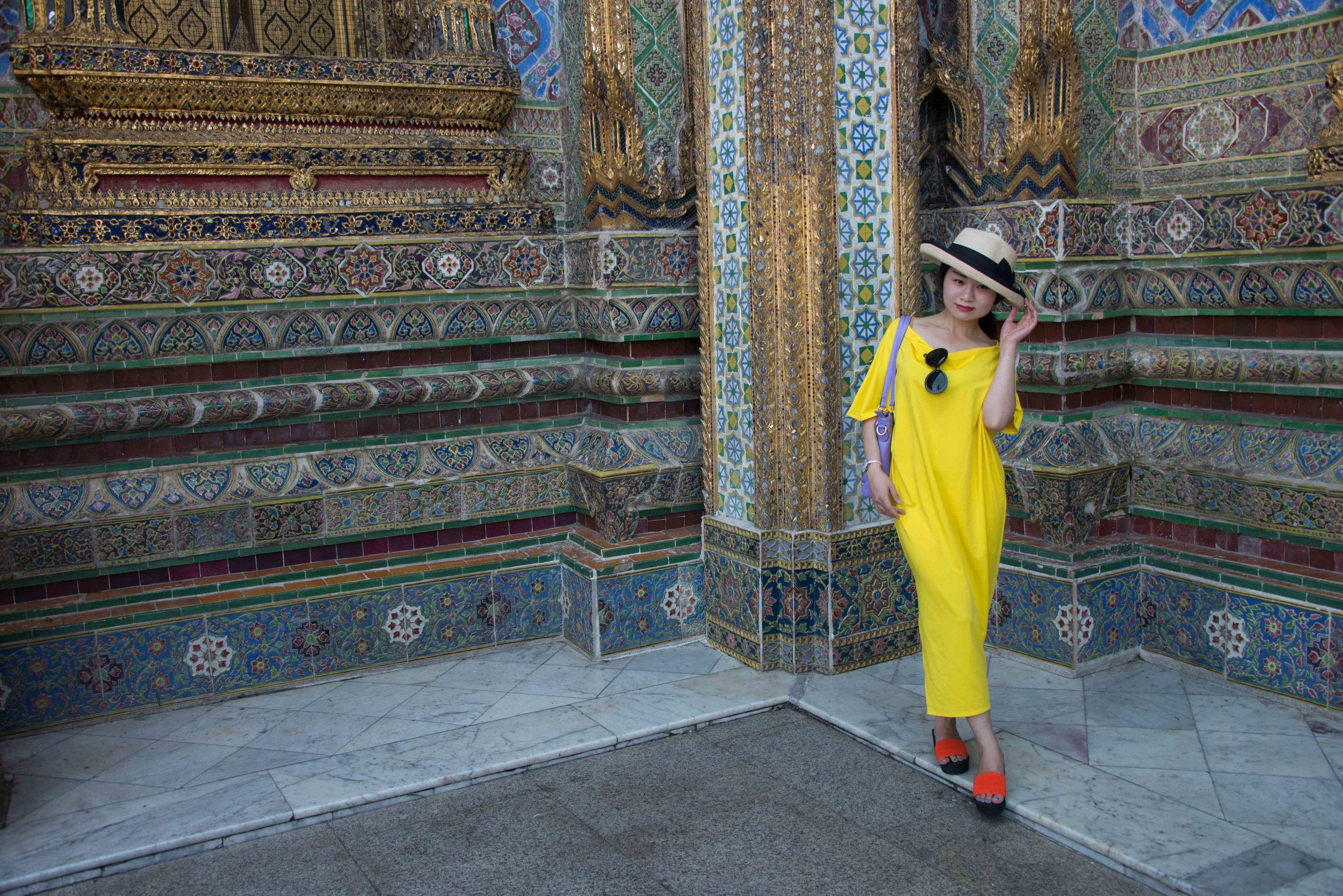 fellow tourist at Royal Palace, Bangkok