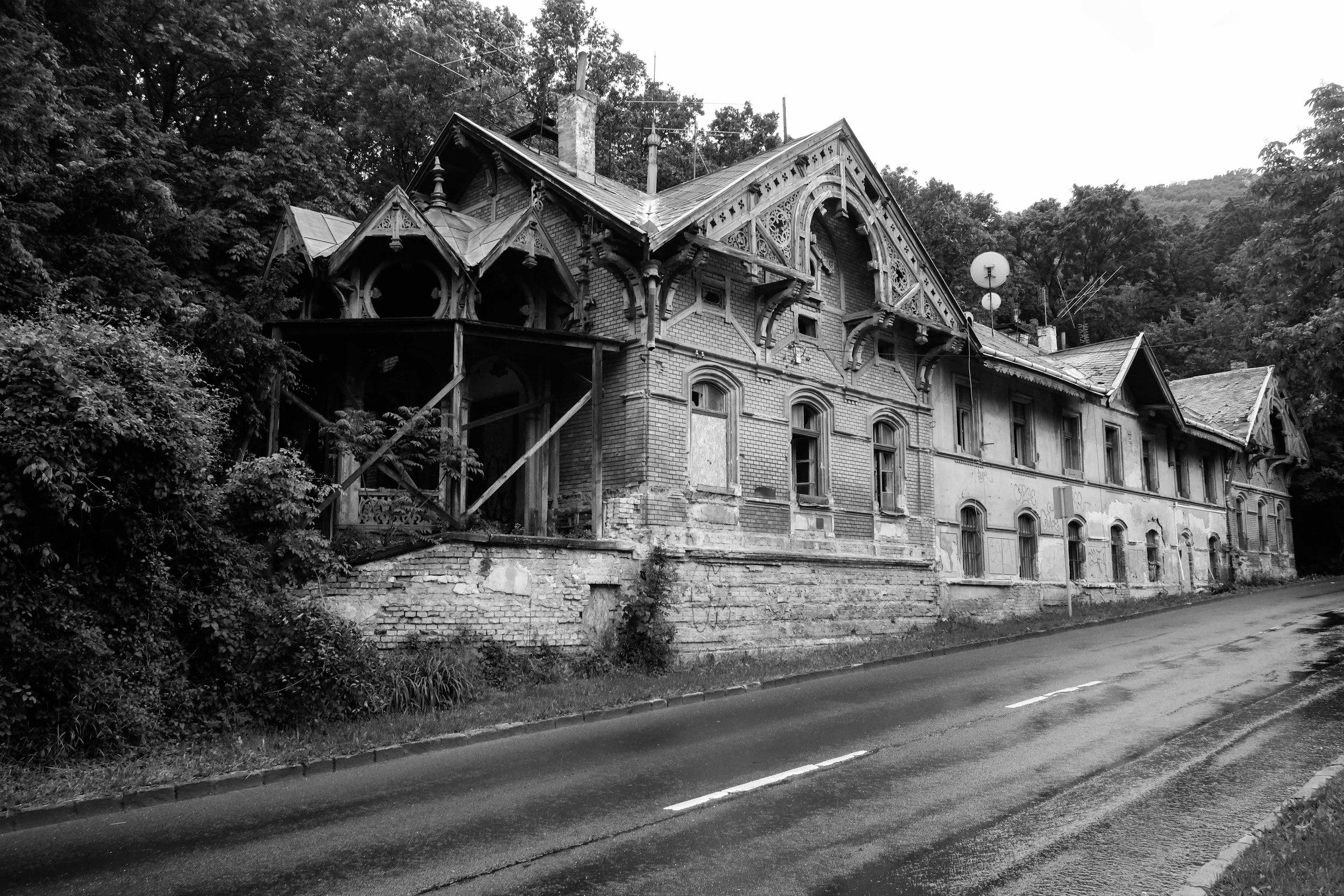 Neglected railway station, Buda