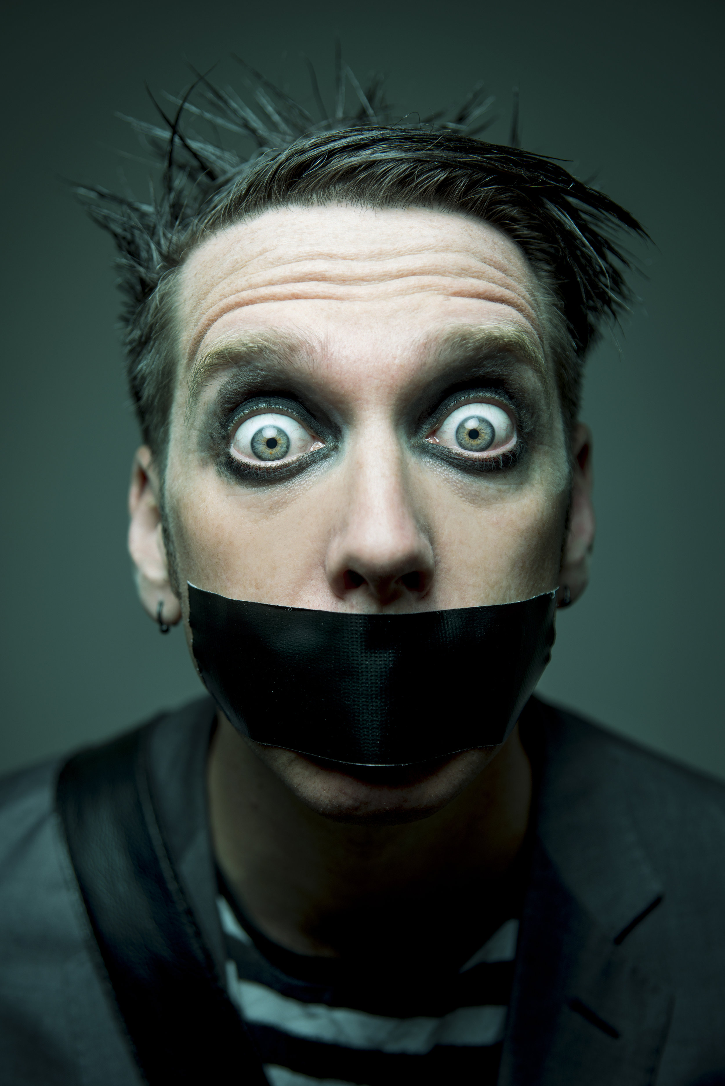 He's a mime with noise, stand-up with no talking - drama with no acting:Tape Face has to be seen to be believed.