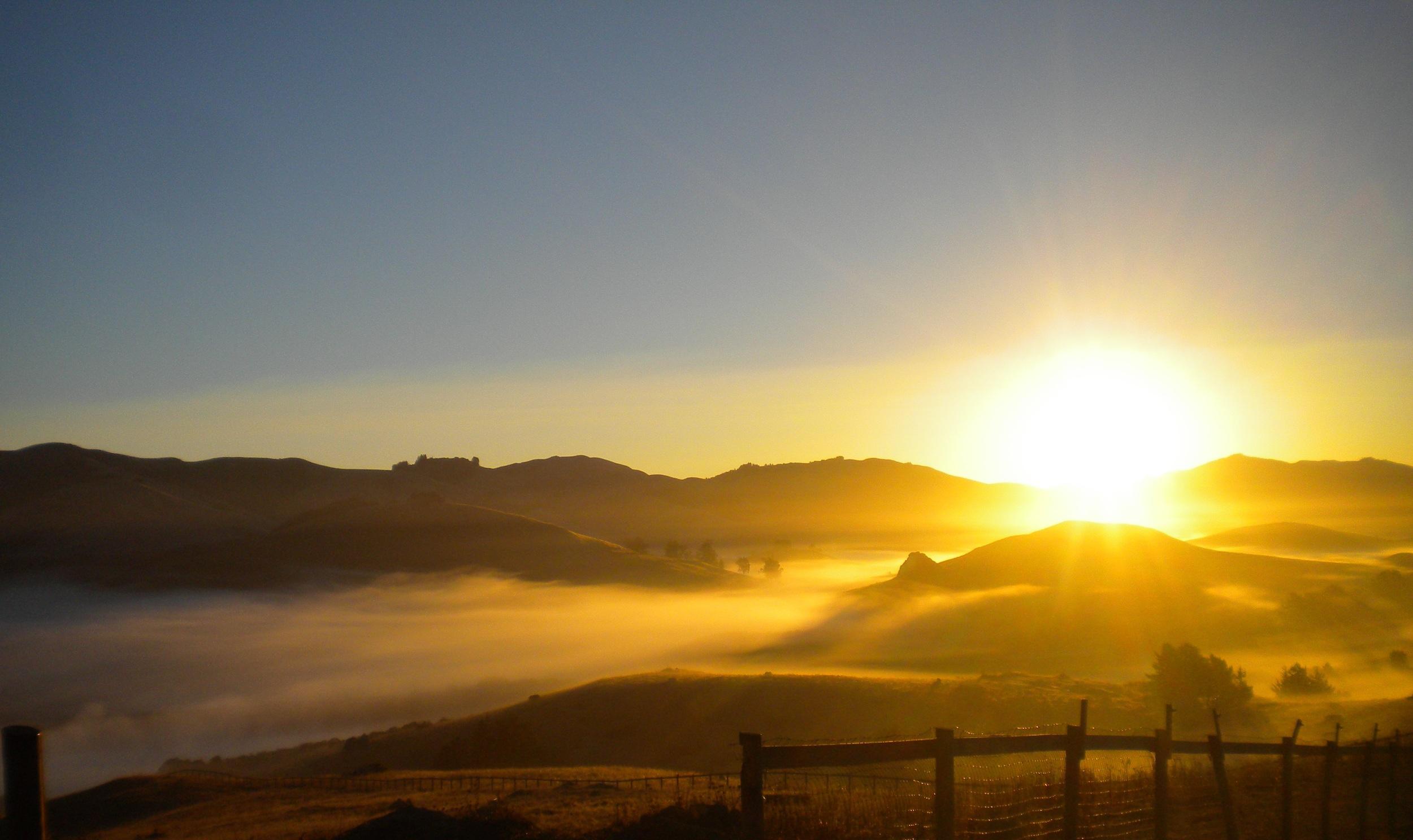 sunrise over Nicasio valley seen from Danehill 001.jpg