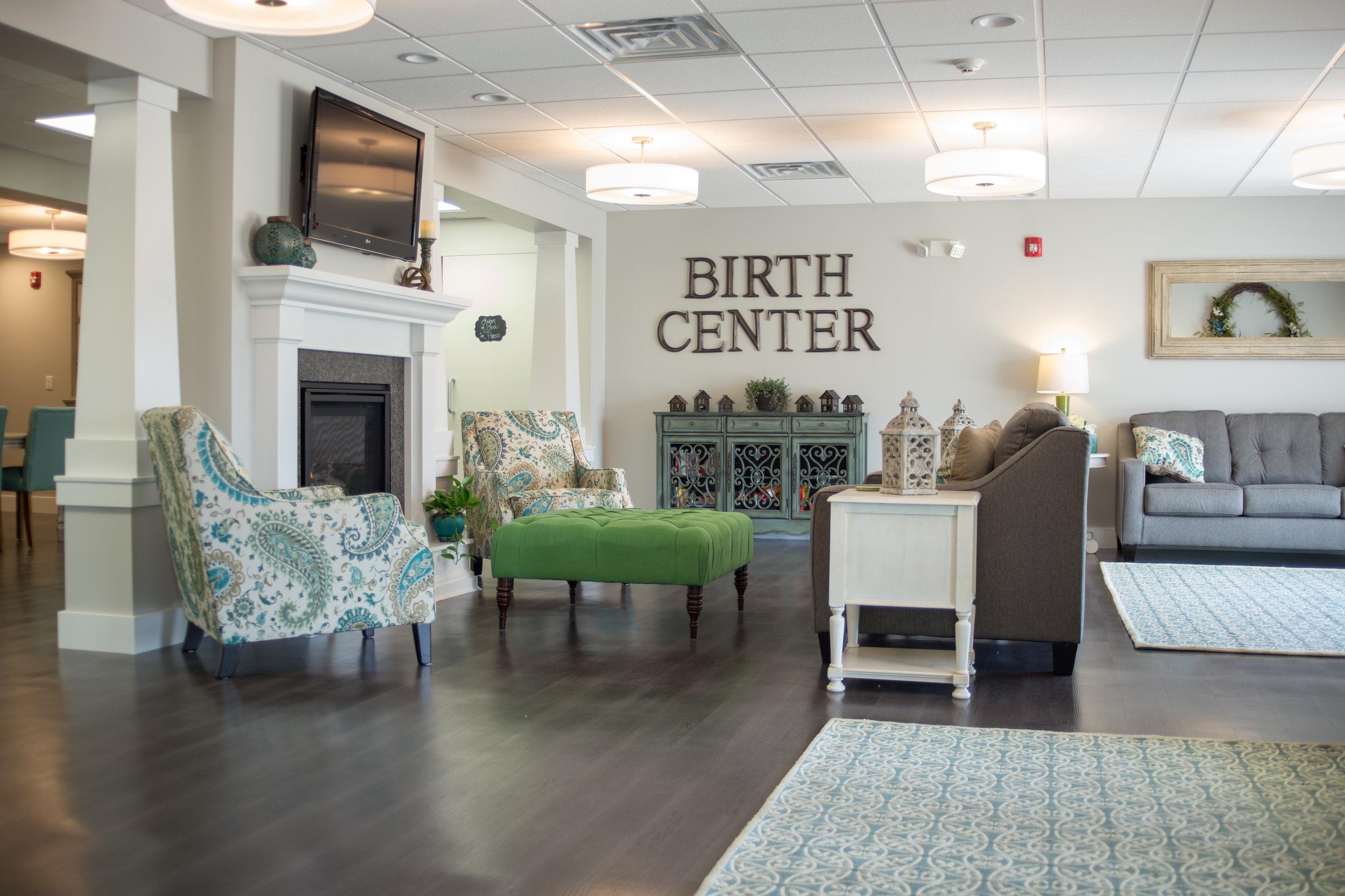 Birth Center Bloomington Living Room