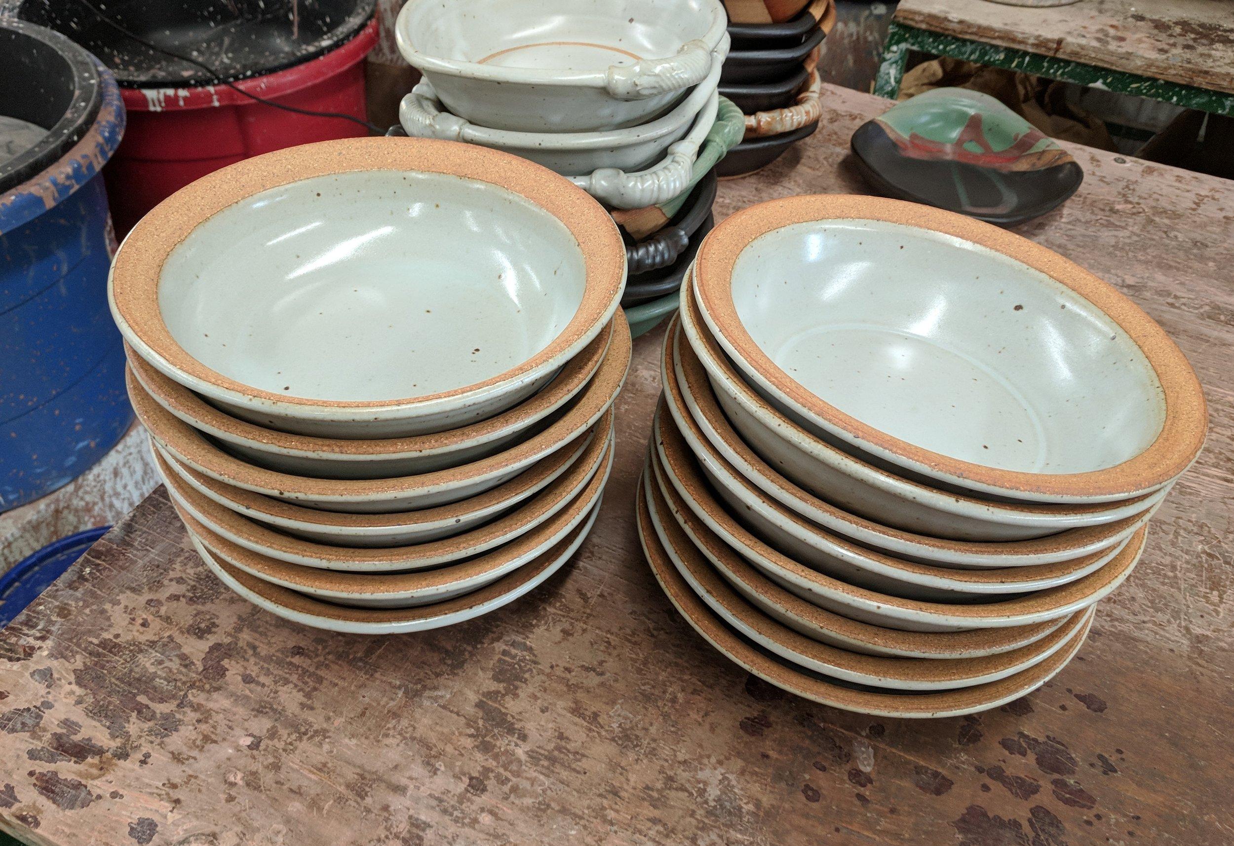 larger than usual pasta/soup/salad bowls