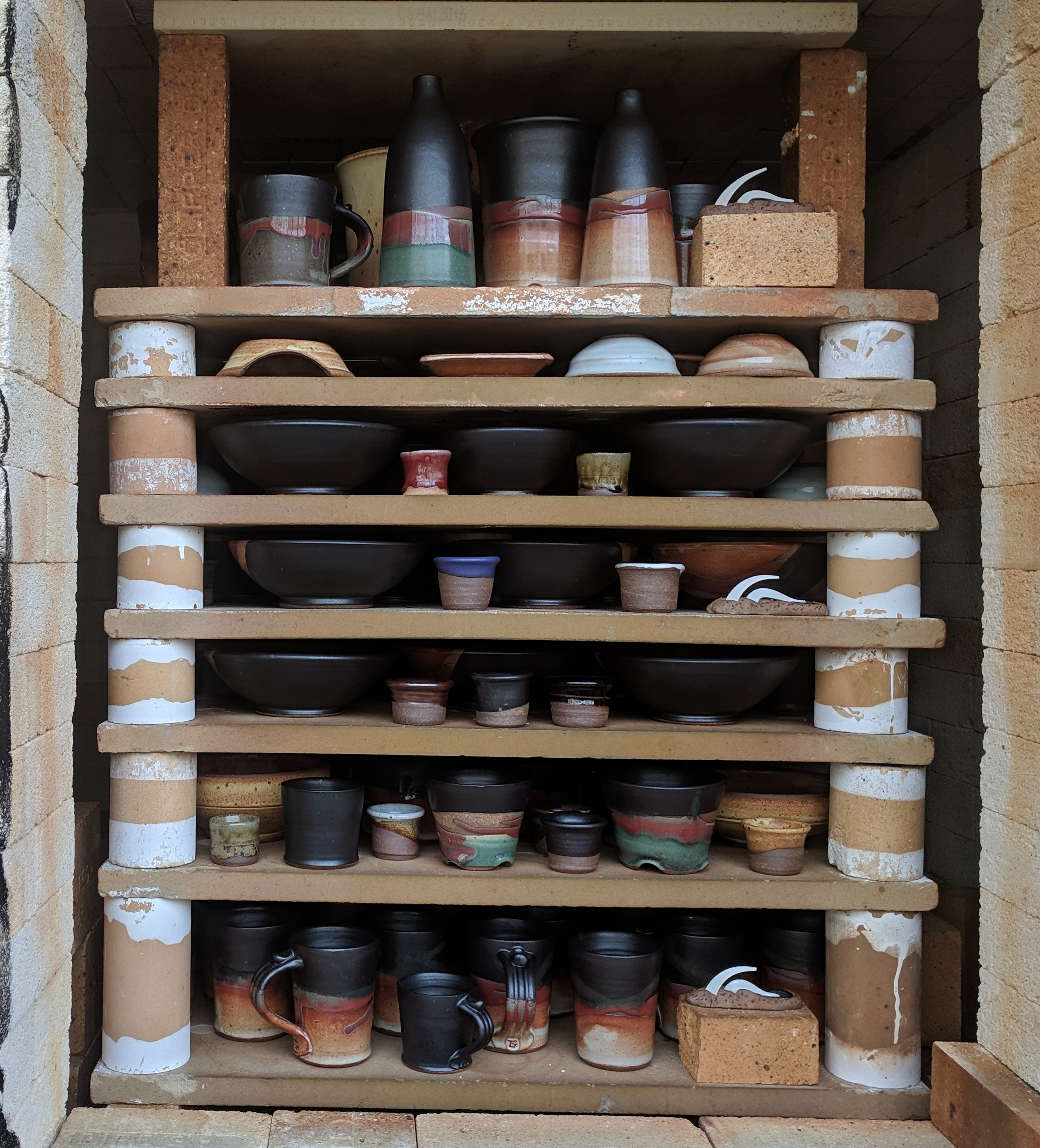 the front stack of the first firing of 2019