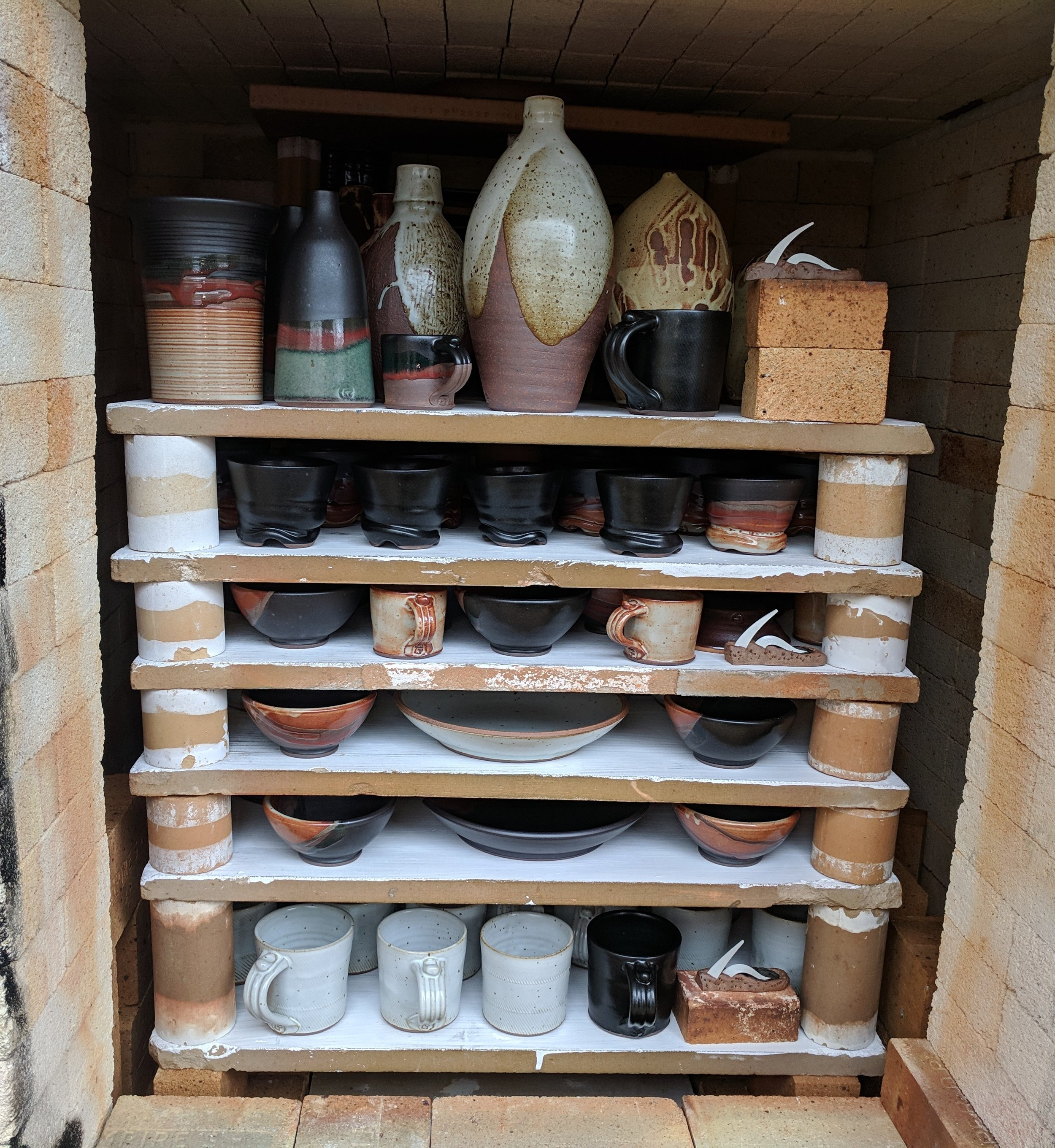 front stack of kiln