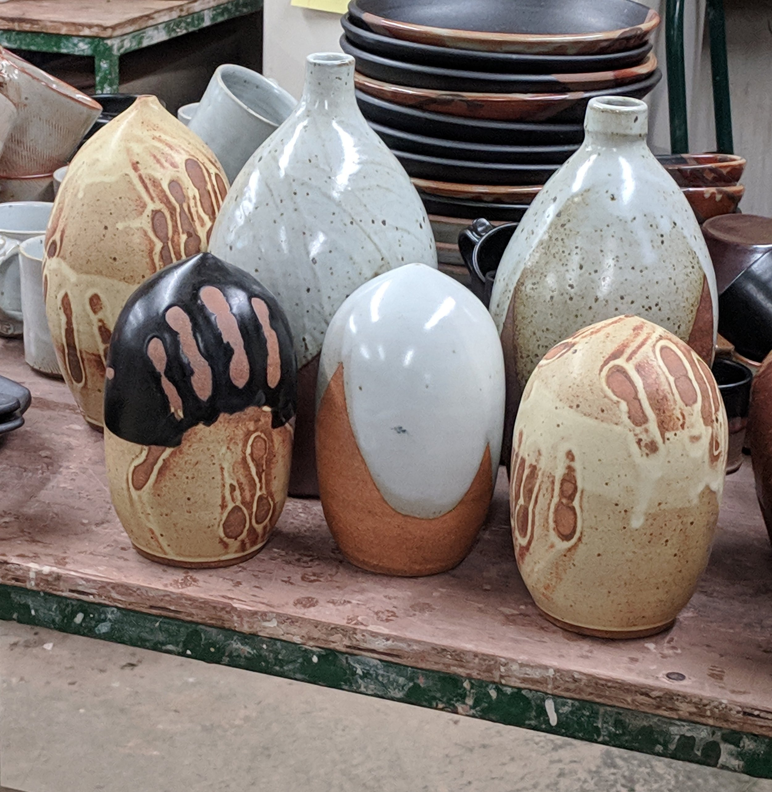 vases and pod shapes