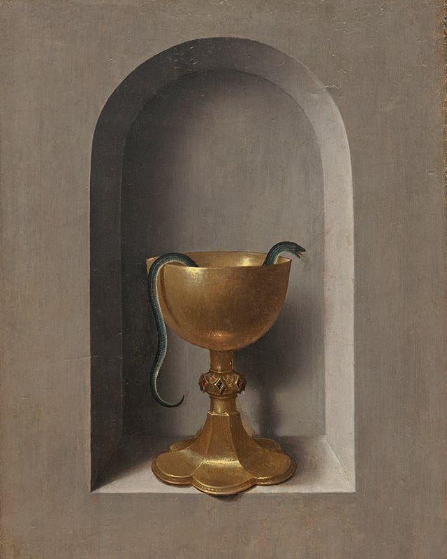 PT-BR • Cálice de São João Evangelista, Hans Memling, 1470.  EN • Chalice of Saint John Evangelist [reverse], Hans Memling, 1470. #aesthetics #northernrenaissance #flemishmasters