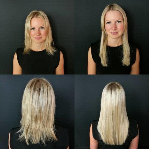 Ida fikk fyldigere og lengre hår hos Renee`. Trykk på bilde for å lese mere