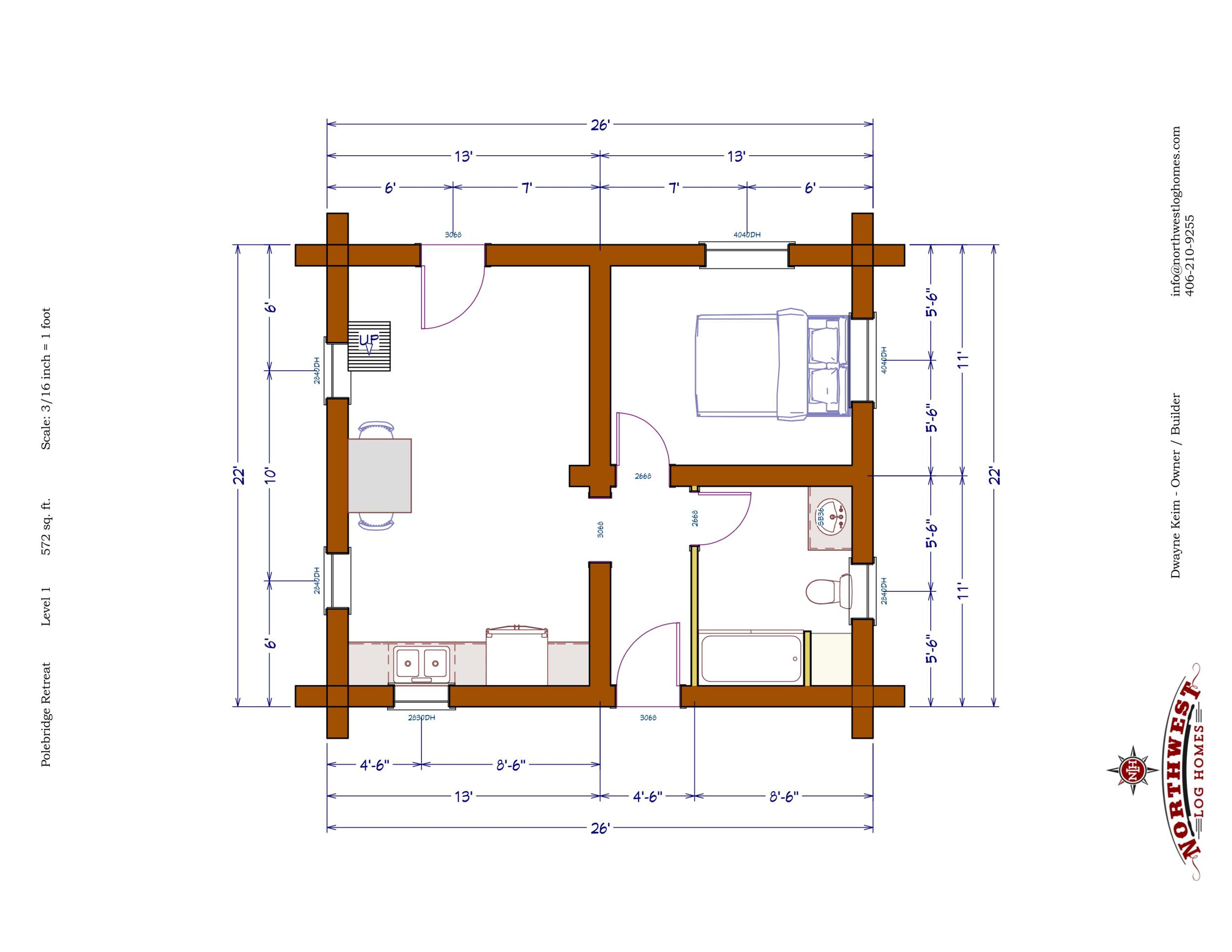 Main Floor - 572 sq. ft.